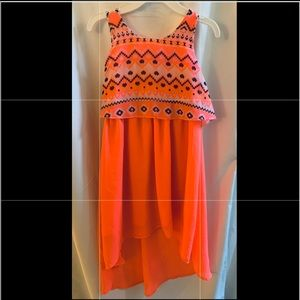 Beautiful bright orange southwest-style dress!